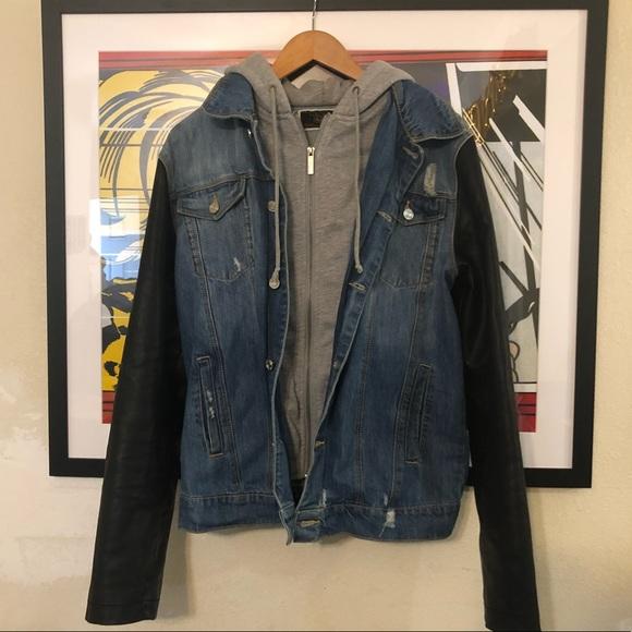 d7bc1eacc ZARA Men's Denim Hoodie Jacket
